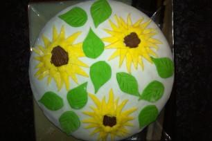 Sonnenblumen - meine Premiere mit Fondant